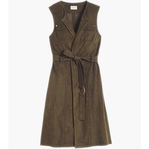 Chico's Faux-Suede Olive Green Vest Large